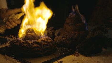 flaming vocano